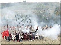 TF3464 : Re-enactment - The Siege of Bolingbroke Castle by Dave Hitchborne