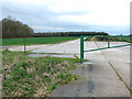 TM1780 : Concrete track on the former Thorpe Abbotts airfield by Evelyn Simak