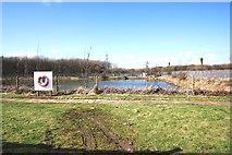 NZ5619 : Fenced reservoir near Lazenby by Philip Barker