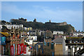TQ8209 : View to Hastings Castle by Oast House Archive