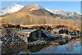 NN0858 : Slate buildings at Ballachulish by Steven Brown