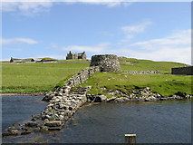 HU4869 : Old Pier and Lime Kiln at Lunna by Robbie