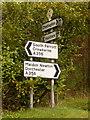 ST4906 : Chedington: road signs at Winyard's Gap by Chris Downer