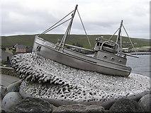 HU4039 : Sculpture on Shetland Bus Memorial by Robbie
