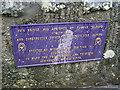 Photo of Thomas Telford plaque