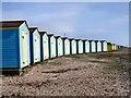 TQ0301 : Beach Huts at Littlehampton by Paul Gillett