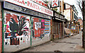 J3272 : Derelict shops, Belfast by Albert Bridge