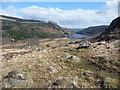 SH7359 : Shoulder of land above Blaen y nant farm by Jeremy Bolwell