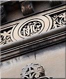 J3372 : Elmwood Hall initials, Belfast (2) by Albert Bridge