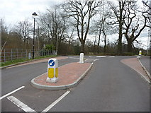 SS9712 : Tiverton : Tidcombe Walk & Roundabout by Lewis Clarke