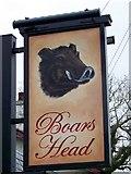 SD5137 : Sign for the Boars Head, Barton by Maigheach-gheal
