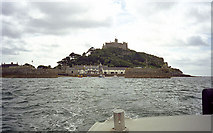 SW5130 : St Michael's Mount Harbour from the ferry by John Rostron