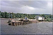 NS3882 : Balloch Pier station from Loch Lomond by John Lawson