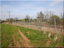 SP5200 : Footpath by the railway, Radley by David P Howard