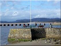 SD4578 : Sitting on the pier, Arnside by Maigheach-gheal