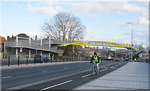 TQ2081 : New footbridge over Western Avenue, North Acton by David Hawgood