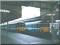 TG2308 : Anglia train at Norwich (1) by Stephen Craven