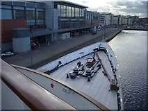NT2677 : View from the front of HMY Britannia by Andrew Abbott