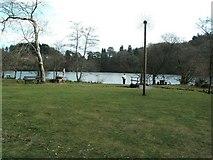 SH6441 : Llyn Mair picnic site by Raymond Knapman
