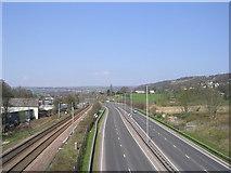 SE1039 : Bingley Bypass viewed from Footbridge by Betty Longbottom