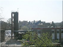 SE1039 : Fire Station - viewed from Footbridge over Bingley Bypass by Betty Longbottom