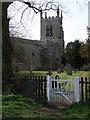 TL0363 : Footpath gate near Riseley Church by Michael Trolove