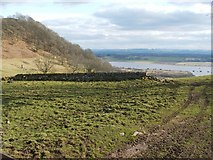 NS4274 : Remains of enclosure at ruins of Mattockhill by Lairich Rig
