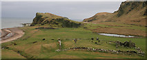 NR7204 : St Ninian's Chapel and Cemetery, Sanda Island by Becky Williamson