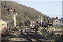 SE8191 : Levisham Station on the North Yorkshire Moors Railway by Richard Kay