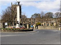 SD9951 : War Memorial and Holy Trinity Church by David Dixon