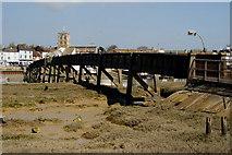 TQ2104 : Footbridge at Shoreham-by-sea, Sussex by Peter Trimming