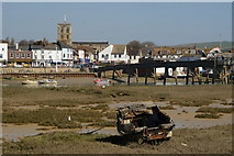 TQ2104 : Mudflats at Shoreham-by-Sea, Sussex by Peter Trimming