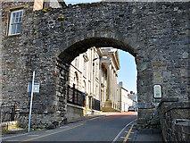 SH4762 : Caernarfon town walls by Dr Richard Murray