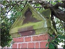SP2871 : Pier cap detail, Priory Road by John Brightley