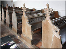 TF9624 : St Helen, Gateley, Norfolk - Benches by John Salmon