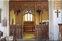 TF9624 : St Helen, Gateley, Norfolk - Screen by John Salmon