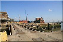 TQ7769 : Chatham Docks, entrance lock by Chris Allen