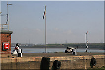 TQ7769 : Guarding the entrance to Chatham Docks by Chris Allen