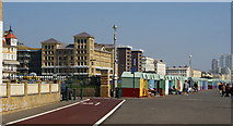 TQ2804 : Cycle Route, King's Esplanade, Hove, Sussex by Peter Trimming