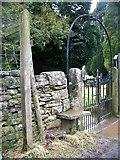 NY7801 : Gate, St Mary's Church, Outhgill by Maigheach-gheal