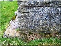 NY7801 : Bench Mark, St Marys Church by Maigheach-gheal