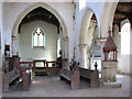 TF7613 : The church of St Mary in Narford - view east by Evelyn Simak