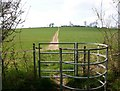 SP2842 : Kissing gate on footpath to Honington by David P Howard