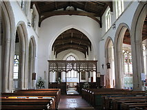 TL4731 : Interior of  St. Mary & St. Clement's church,  Clavering,  Essex by Derek Voller