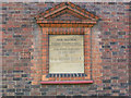 TQ2168 : Christ Church, New Malden: dedicationstone to parish hall by Stephen Craven
