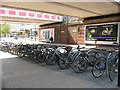 TQ2168 : New Malden station cycle parking by Stephen Craven