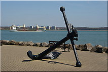 SU4208 : Anchor at Hythe Marina, Hampshire by Peter Trimming