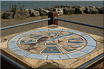 SU4208 : Memorial at Hythe Marina, Hampshire by Peter Trimming