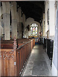 TF5002 : St Peter's church - south aisle by Evelyn Simak