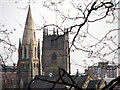 SK5739 : Nottingham: spire and tower by John Sutton